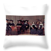 The Regents Of The Old Men And Women Hospital In Amsterdam Throw Pillow