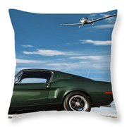 The Rendezvous - 1968 Mustang Fastback Throw Pillow