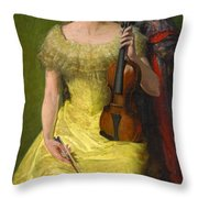 The Rest His Daughter Edith Throw Pillow