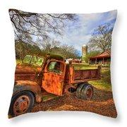 The Resting Place 2 Farm Life 1947 Dodge Dump Truck Art Throw Pillow