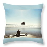 The Resting Surfer Throw Pillow