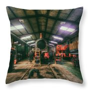 The Restoration Shed Throw Pillow