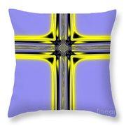 The Resurrection Cross Fractal 62 Throw Pillow