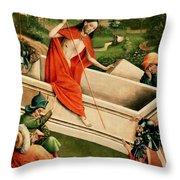 The Resurrection Throw Pillow by Johann Koerbecke