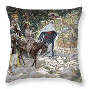 The Return From Egypt Throw Pillow