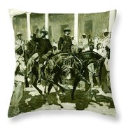 The Return Of Gomez To Havana Throw Pillow