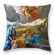 The Return Of The Holy Family From Egypt Throw Pillow