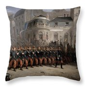The Return Of The Troops To Paris From The Crimea Throw Pillow by Emmanuel Masse