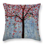 The Rhythm Tree Throw Pillow