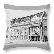 The Rialto Theater Deer Lodge Montana Throw Pillow