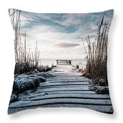 The Rickety Jetty Throw Pillow
