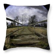The Rickity Bridge Throw Pillow