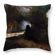 The Ride Of Death The Fall And Death Throw Pillow