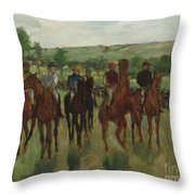 The Riders, 1885 Throw Pillow