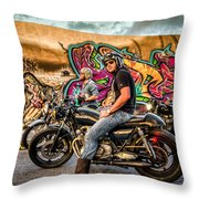 The Riders Throw Pillow