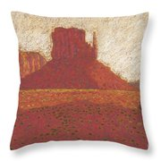 The Right Mitten Throw Pillow