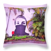 Fighting For Life  Throw Pillow