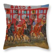 The Ringing Red Gates Throw Pillow