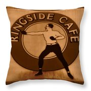 The Ringside Cafe Throw Pillow