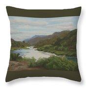 The Rio Grande Between Taos And Santa Fe Throw Pillow