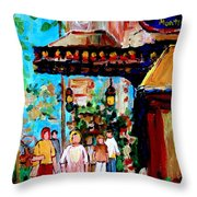 The Ritz Carlton In Spring Throw Pillow