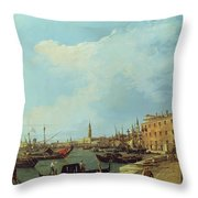 The Riva Degli Schiavoni Throw Pillow