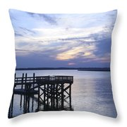 The River At Dusk Throw Pillow