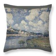 The River At Saint Cloud Throw Pillow