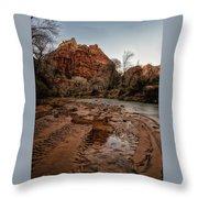 The River Beach Throw Pillow