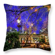 The River Cafe Throw Pillow