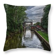 The River Foss Meets The River Ouse Throw Pillow