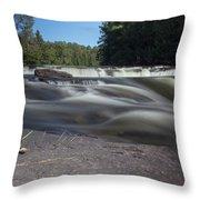 The River - Furnace Falls - Burnt River Throw Pillow