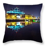 The River Liffey Night Romance 2 Throw Pillow
