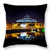 The River Liffey Reflections 2 Throw Pillow