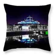 The River Liffey Reflections 2 V2 Throw Pillow