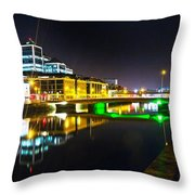 The River Liffey Reflections 3 Throw Pillow