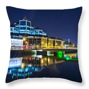 The River Liffey Reflections 4 Throw Pillow