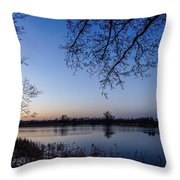 The River Nogat Throw Pillow