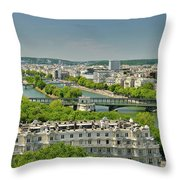 The River Of Paris Throw Pillow