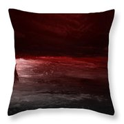 The River Runs Red Throw Pillow
