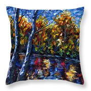The River Song  Throw Pillow