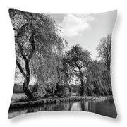 The River Wey,guildford, Surrey,england  Throw Pillow