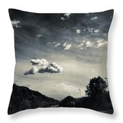 The Road And The Clouds Throw Pillow