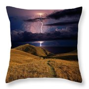 The Road Forward Throw Pillow