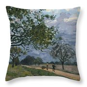 The Road From Versailles To Louveciennes Throw Pillow