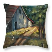 The Road Leads Home Throw Pillow