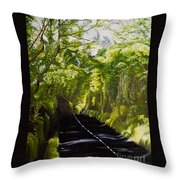 The Road Through Glenastar Throw Pillow