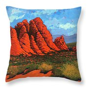 The Road To Babylon Throw Pillow