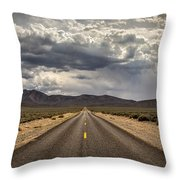 The Road To Death Valley Throw Pillow
