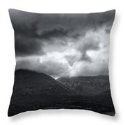 The Road To Elgol Throw Pillow